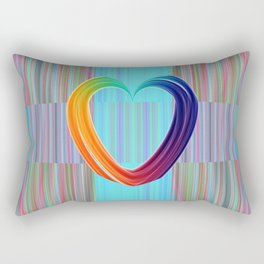 Fractal Art- Pattern Art- Heart Art- Blue Hearts-Pixxie Stixx- LGBT Art- Love- Healing Energy Art Rectangular Pillow