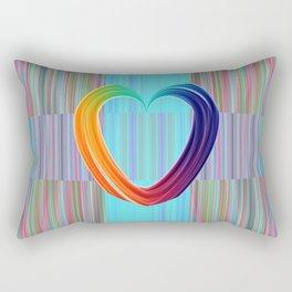 Fractal Art- Pattern Art- Heart Art- Blue Hearts-Pixxie Stixx- LGBT Art- Love- Healing Energy Art Rectangular Pillow