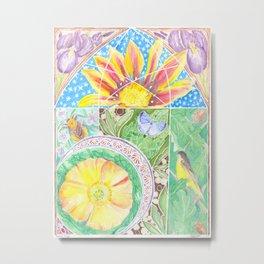 Favorite Things, Flowers and Fauna Metal Print
