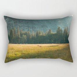 Meadow Sunset in Yosemite Rectangular Pillow