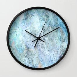 Blue Green Abstact Wall Clock
