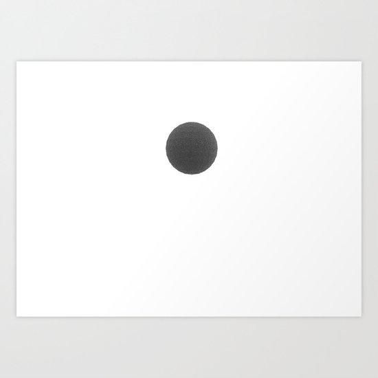 Black sphere Art Print