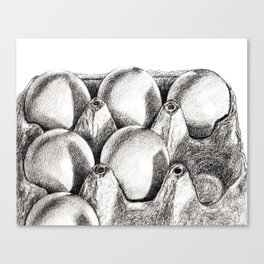 Egg in Carton Canvas Print