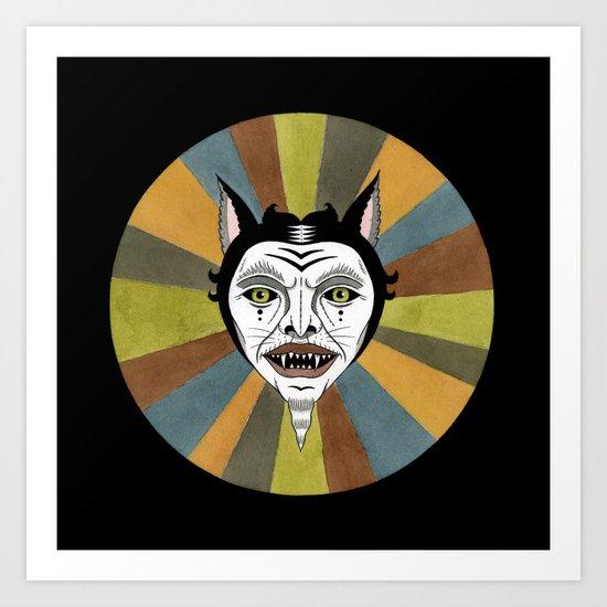 Cat Color Wheel No. 1 Art Print
