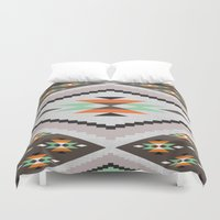 navajo Duvet Covers featuring Navajo by Priscila Peress