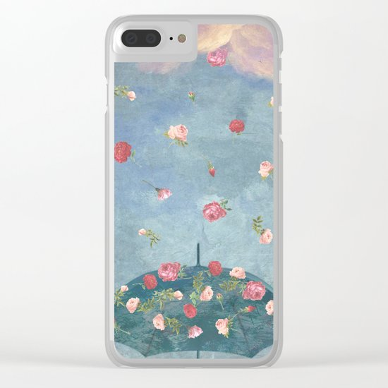 I Wished for a Rose Rain for You Clear iPhone Case