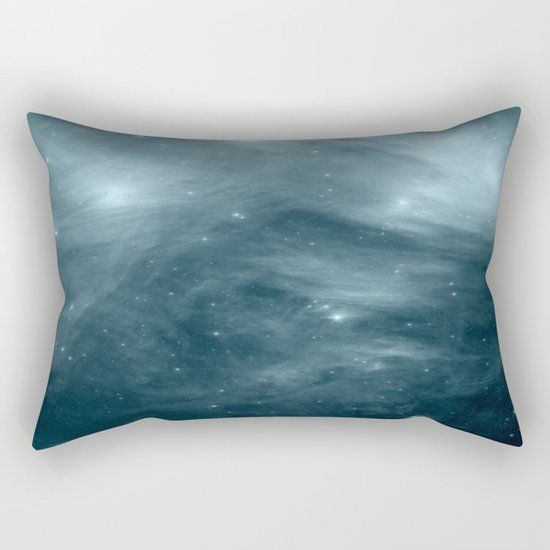 Galaxy : Pleiades Star Cluster NeBula Steel Blue Rectangular Pillow