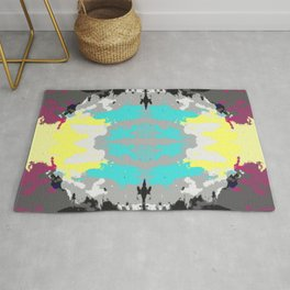 Kanemi - Abstract Colorful Batik Butterfly Mandala Art Rug