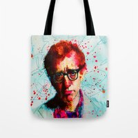woody Tote Bags featuring Woody by benjamin james