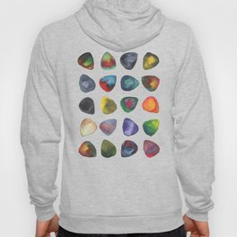 Guitar Picks Watercolor Hoody