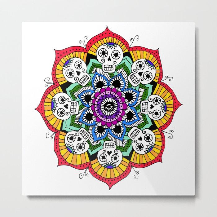 mandalavera de colores Metal Print