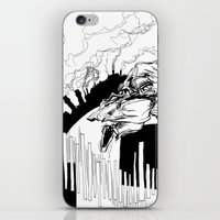 runner iPhone & iPod Skins featuring Runner by Michael Tuck