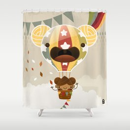 Chestnut Girl Balloon!!! Shower Curtain