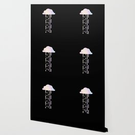 Holographic Rainbow Minimalist Raincloud Wallpaper