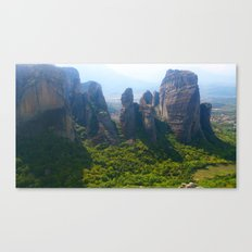Meditation up to Meteora | Greece | Nature Canvas Print