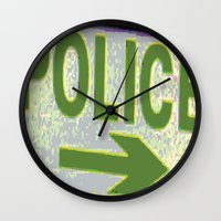 police Wall Clocks featuring police by XiXi