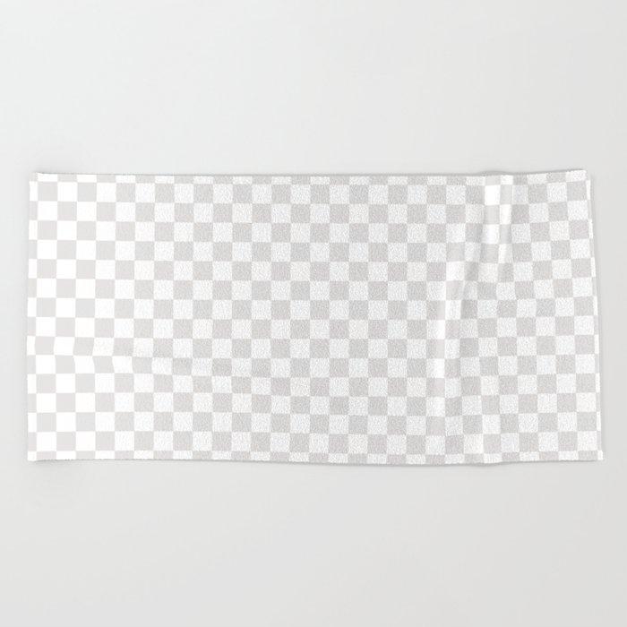 Checker (Platinum/White) Beach Towel
