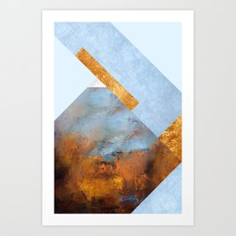Modern Mountain No5-P1 Art Print