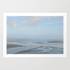 Path of a Running Sea Art Print