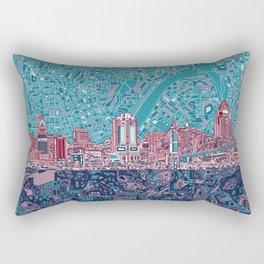 cincinnati city skyline Rectangular Pillow