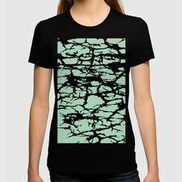 black cracks T-shirt