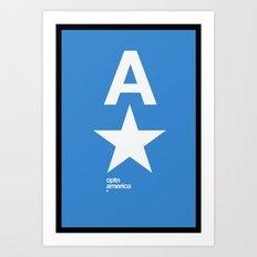 cptn america Art Print