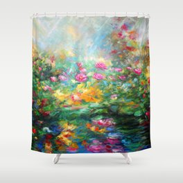 Roses paint  Shower Curtain