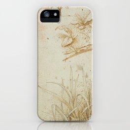 Floral sketches - Leonardo da Vinci iPhone Case
