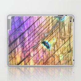Golden Labradorite Agate Gemstone Laptop & iPad Skin