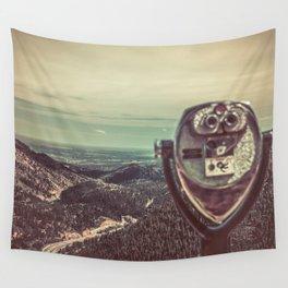 Wanderlust Vintage Tourist Binoculars Wall Tapestry