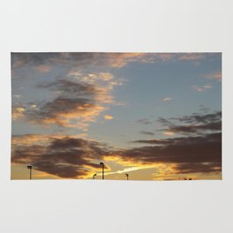 Sunset at the Edge of Town Rug