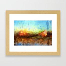 Birch Bark Canoe Framed Art Print