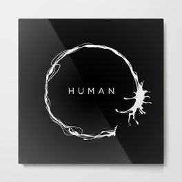 HUMAN II Metal Print