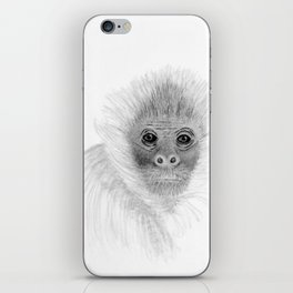 Frank, the Spider Monkey, greyscale iPhone Skin