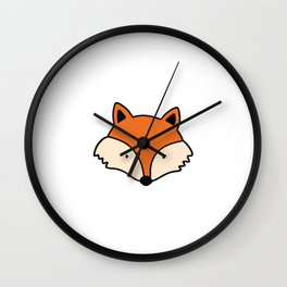 Simple red fox Wall Clock