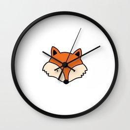Simple red fox Wall Clock