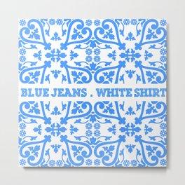 blue jeans, white hirt Metal Print