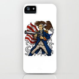 Patriotic Father Of Merica | Independence Day iPhone Case