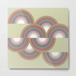 MINNA - Mid Century Modern Graphic Multicolor Metal Print