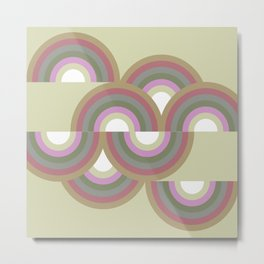 MINNA - Mid Century Modern Graphic Multicolor Metal Print