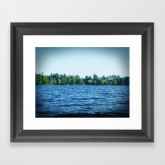 Lake Water View Color Photo Framed Art Print