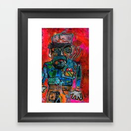 Brick Layer Framed Art Print