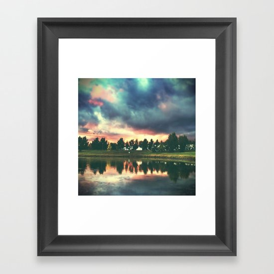 skies. Framed Art Print