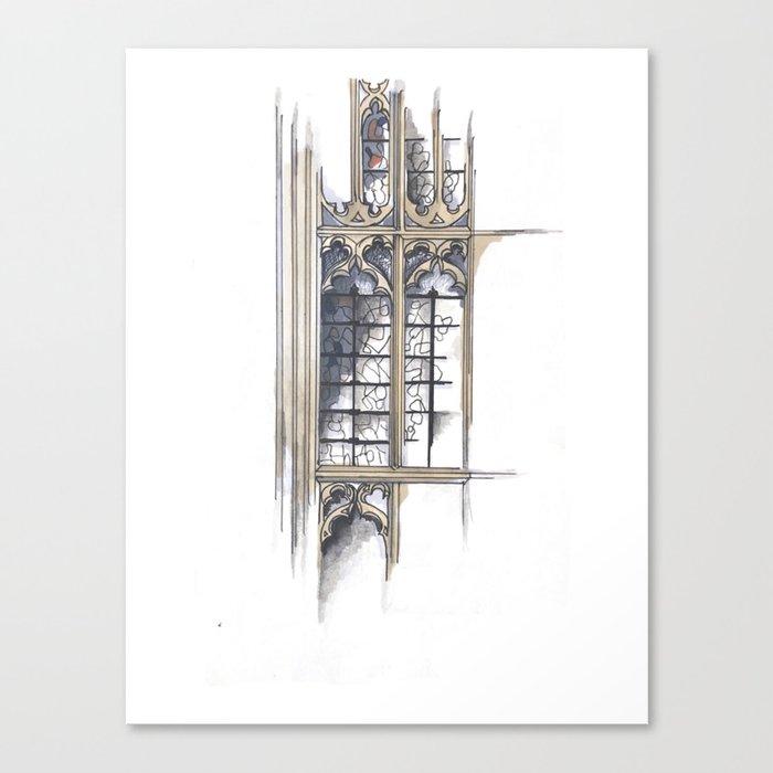 Bath Church Windows Canvas Print