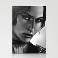 dragon age inquisition Stationery Cards featuring Dragon Age - Josephine by anivy