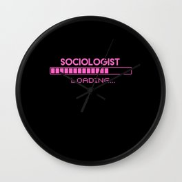Sociologist Loading Wall Clock