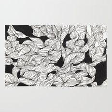 Abstract curlicues Rug
