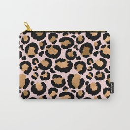 Animal print - pink copper Carry-All Pouch
