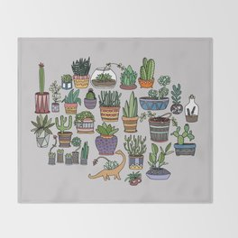 Succulent Party Throw Blanket
