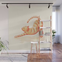 Yoga Cat Wall Mural
